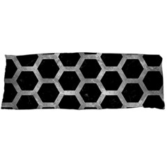 Hexagon2 Black Marble & Gray Metal 2 Body Pillow Case Dakimakura (two Sides) by trendistuff
