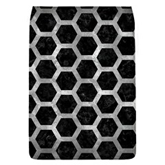 Hexagon2 Black Marble & Gray Metal 2 Flap Covers (s)  by trendistuff