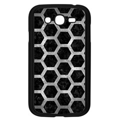 Hexagon2 Black Marble & Gray Metal 2 Samsung Galaxy Grand Duos I9082 Case (black) by trendistuff