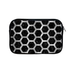 Hexagon2 Black Marble & Gray Metal 2 Apple Macbook Pro 13  Zipper Case by trendistuff