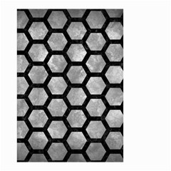 Hexagon2 Black Marble & Gray Metal 2 (r) Small Garden Flag (two Sides) by trendistuff