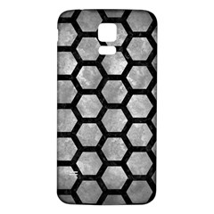 Hexagon2 Black Marble & Gray Metal 2 (r) Samsung Galaxy S5 Back Case (white) by trendistuff
