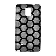 Hexagon2 Black Marble & Gray Metal 2 (r) Samsung Galaxy Note 4 Hardshell Case by trendistuff