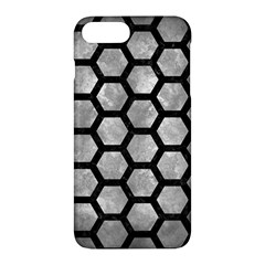 Hexagon2 Black Marble & Gray Metal 2 (r) Apple Iphone 7 Plus Hardshell Case by trendistuff