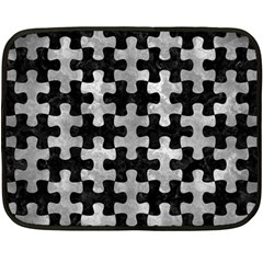Puzzle1 Black Marble & Gray Metal 2 Double Sided Fleece Blanket (mini)  by trendistuff