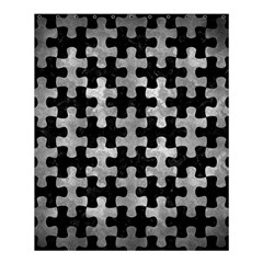 Puzzle1 Black Marble & Gray Metal 2 Shower Curtain 60  X 72  (medium)  by trendistuff