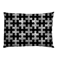 Puzzle1 Black Marble & Gray Metal 2 Pillow Case (two Sides) by trendistuff