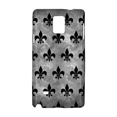 Royal1 Black Marble & Gray Metal 2 Samsung Galaxy Note 4 Hardshell Case by trendistuff