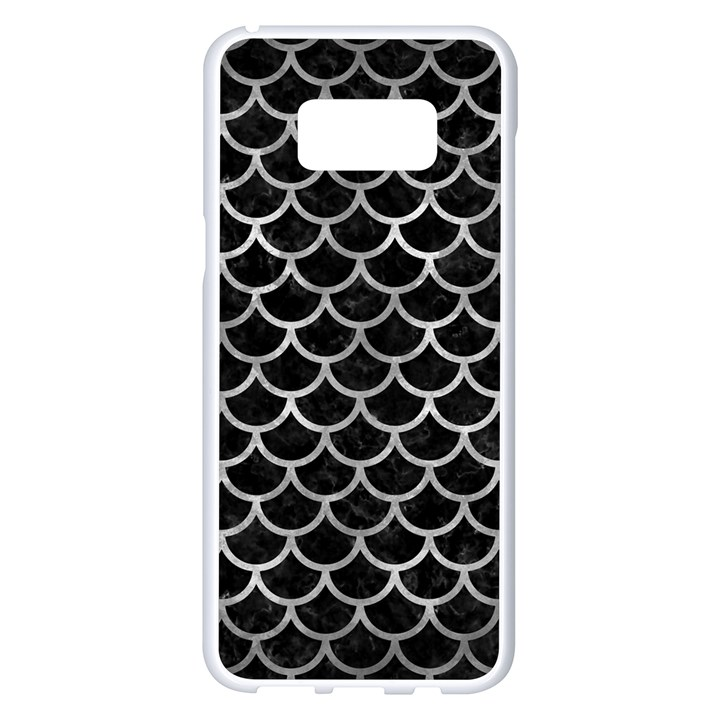 SCALES1 BLACK MARBLE & GRAY METAL 2 Samsung Galaxy S8 Plus White Seamless Case