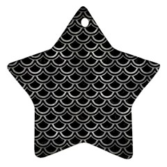 Scales2 Black Marble & Gray Metal 2 Star Ornament (two Sides) by trendistuff