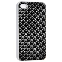 Scales2 Black Marble & Gray Metal 2 Apple Iphone 4/4s Seamless Case (white) by trendistuff