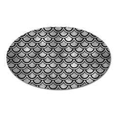 Scales2 Black Marble & Gray Metal 2 (r) Oval Magnet by trendistuff