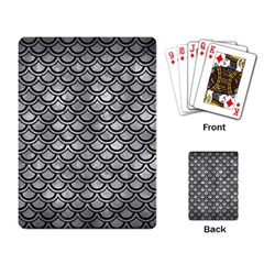 Scales2 Black Marble & Gray Metal 2 (r) Playing Card by trendistuff