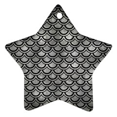Scales2 Black Marble & Gray Metal 2 (r) Star Ornament (two Sides) by trendistuff