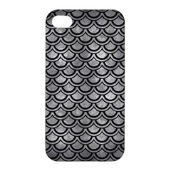 Scales2 Black Marble & Gray Metal 2 (r) Apple Iphone 4/4s Hardshell Case by trendistuff
