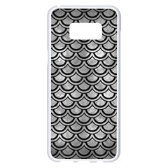 Scales2 Black Marble & Gray Metal 2 (r) Samsung Galaxy S8 Plus White Seamless Case