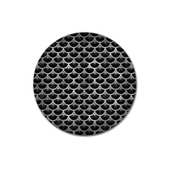 Scales3 Black Marble & Gray Metal 2 Magnet 3  (round) by trendistuff