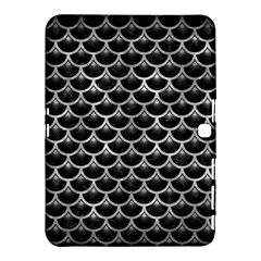 Scales3 Black Marble & Gray Metal 2 Samsung Galaxy Tab 4 (10 1 ) Hardshell Case  by trendistuff