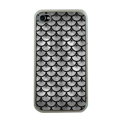 Scales3 Black Marble & Gray Metal 2 (r) Apple Iphone 4 Case (clear) by trendistuff