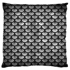 Scales3 Black Marble & Gray Metal 2 (r) Standard Flano Cushion Case (two Sides) by trendistuff
