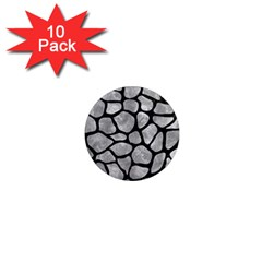 Skin1 Black Marble & Gray Metal 2 1  Mini Magnet (10 Pack)  by trendistuff