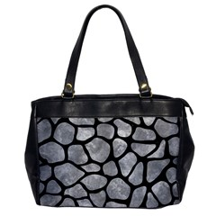 Skin1 Black Marble & Gray Metal 2 Office Handbags by trendistuff