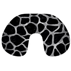 Skin1 Black Marble & Gray Metal 2 (r) Travel Neck Pillows by trendistuff