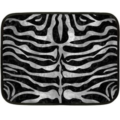 Skin2 Black Marble & Gray Metal 2 Fleece Blanket (mini) by trendistuff