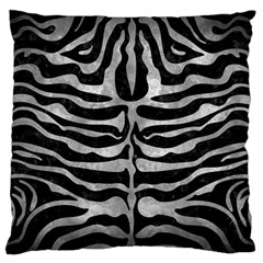 Skin2 Black Marble & Gray Metal 2 Standard Flano Cushion Case (one Side) by trendistuff