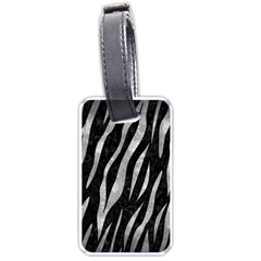 Skin3 Black Marble & Gray Metal 2 Luggage Tags (two Sides) by trendistuff