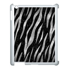 Skin3 Black Marble & Gray Metal 2 Apple Ipad 3/4 Case (white) by trendistuff
