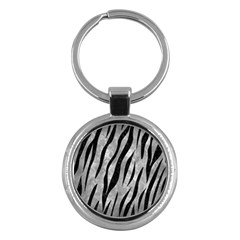 Skin3 Black Marble & Gray Metal 2 (r) Key Chains (round)  by trendistuff