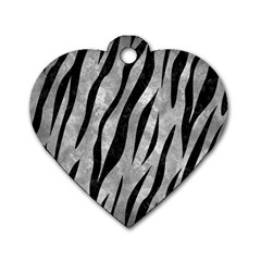 Skin3 Black Marble & Gray Metal 2 (r) Dog Tag Heart (one Side) by trendistuff