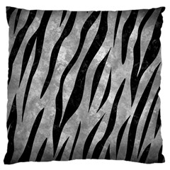 Skin3 Black Marble & Gray Metal 2 (r) Large Cushion Case (two Sides) by trendistuff