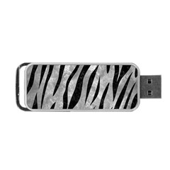 Skin3 Black Marble & Gray Metal 2 (r) Portable Usb Flash (one Side) by trendistuff