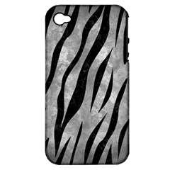 Skin3 Black Marble & Gray Metal 2 (r) Apple Iphone 4/4s Hardshell Case (pc+silicone) by trendistuff