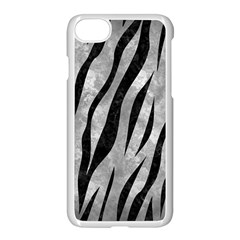 Skin3 Black Marble & Gray Metal 2 (r) Apple Iphone 7 Seamless Case (white) by trendistuff