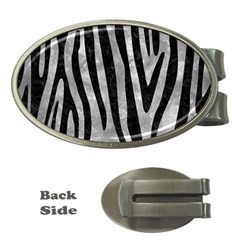 Skin4 Black Marble & Gray Metal 2 Money Clips (oval)  by trendistuff