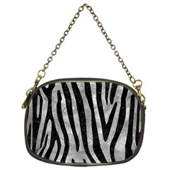 Skin4 Black Marble & Gray Metal 2 Chain Purses (one Side)  by trendistuff