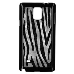 Skin4 Black Marble & Gray Metal 2 Samsung Galaxy Note 4 Case (black) by trendistuff