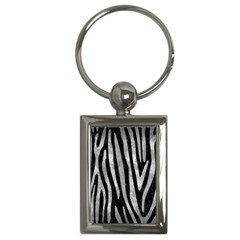 Skin4 Black Marble & Gray Metal 2 (r) Key Chains (rectangle)  by trendistuff
