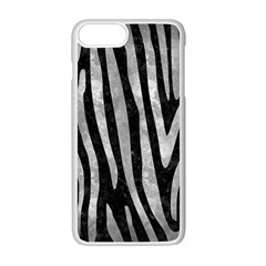 Skin4 Black Marble & Gray Metal 2 (r) Apple Iphone 7 Plus White Seamless Case by trendistuff