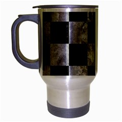 Square1 Black Marble & Gray Metal 2 Travel Mug (silver Gray) by trendistuff