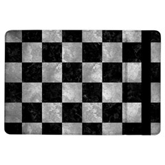 Square1 Black Marble & Gray Metal 2 Ipad Air Flip by trendistuff