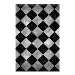 Square2 Black Marble & Gray Metal 2 Shower Curtain 48  X 72  (small)  by trendistuff