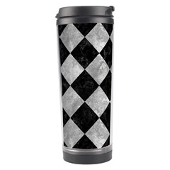 Square2 Black Marble & Gray Metal 2 Travel Tumbler by trendistuff