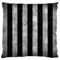 Stripes1 Black Marble & Gray Metal 2 Large Cushion Case (one Side) by trendistuff