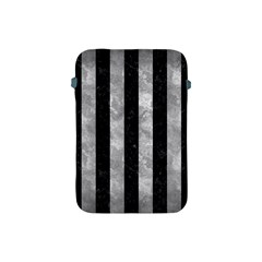 Stripes1 Black Marble & Gray Metal 2 Apple Ipad Mini Protective Soft Cases by trendistuff