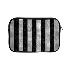 Stripes1 Black Marble & Gray Metal 2 Apple Ipad Mini Zipper Cases by trendistuff