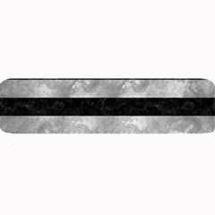 Stripes2 Black Marble & Gray Metal 2 Large Bar Mats by trendistuff